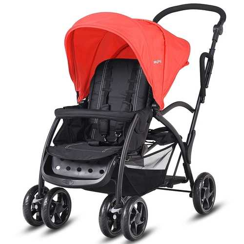 Double Kids Folding Baby Sit and Stand Ultra Tandem Stroller