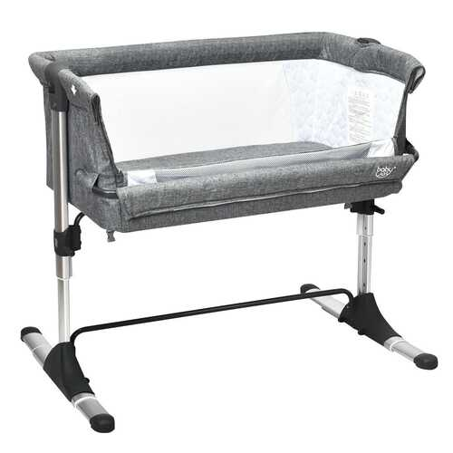 Portable Infant Travel Bassinet Crib with Carrying Bag-Gray