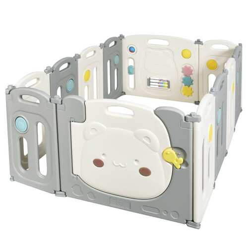 12 Panel Baby Playpen Kids Activity Play Yard