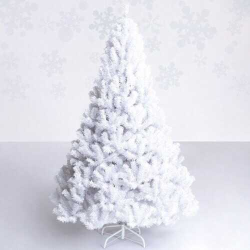 5 ft  White Artificial PVC Christmas Tree - Color: White - Size: 5'