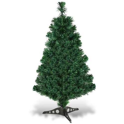 3'/4'/5'/6' Fiber Optic Artificial PVC Christmas Tree w/ Plastic Stand