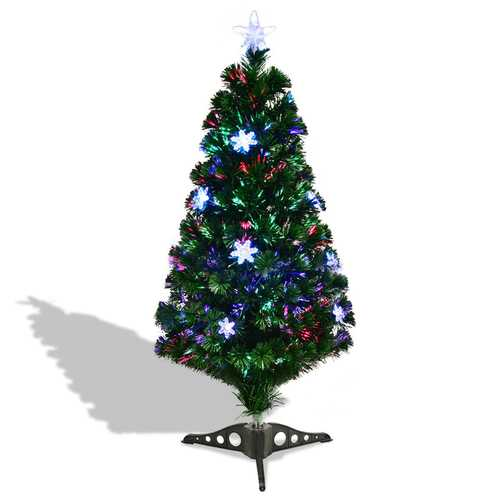 3'/4'/5'/6' LED Optic Artificial Christmas Tree with Snowflakes