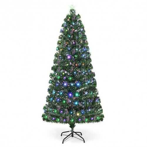 5' / 6' / 7' Fiber Optic Artificial Christmas Tree with LED Lights-5'