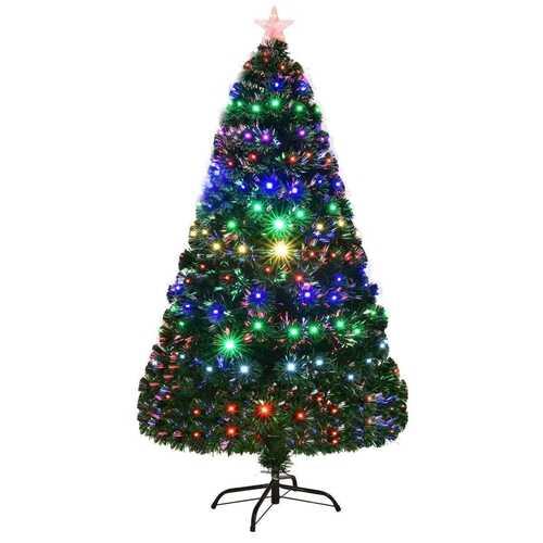5' / 6' / 7' Multicolor LED Fiber Optic Artificial Christmas Tree-6'