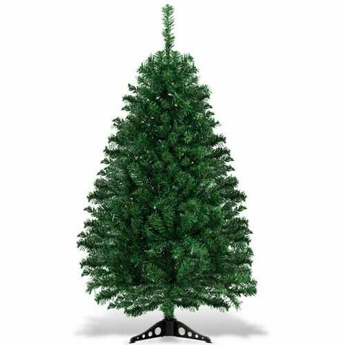 4 ft Tabletop Artificial Christmas Tree with LED Lights