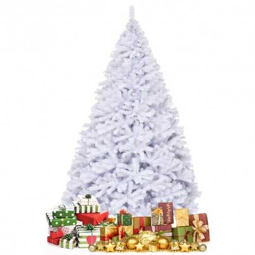 6' / 7.5' / 9' Hinged Artificial Christmas Tree with Metal Stand-9'