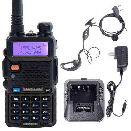 BAOFENG UV-5R Dual Band Two Way Talkie with Earpiece