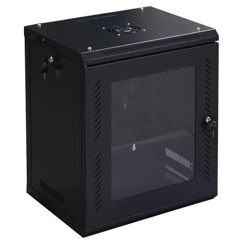 12U Wall Mount Network Server Data Cabinet w/ Glass Door