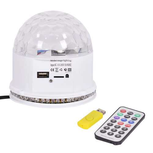 10W MP3 RGB 48 LED Crystal Magic Ball
