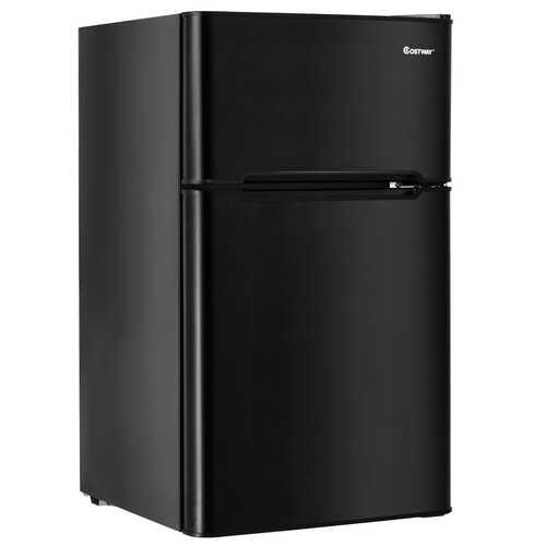 3.2 cu ft. Compact Stainless Steel Refrigerator-Black