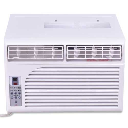 6000/8000 BTU 115 V White Compact Window-Mounted Air Conditioner with Remote Control
