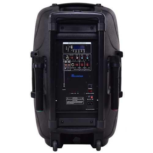 """Portable 12"""" 600 W Rechargable Battery Powered Speaker"""