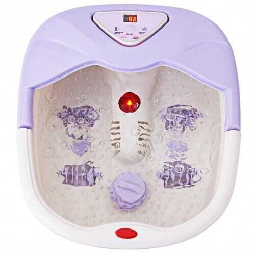 LCD Display Temperature Control Foot Spa Bath Massager-Purple - Color: Purple
