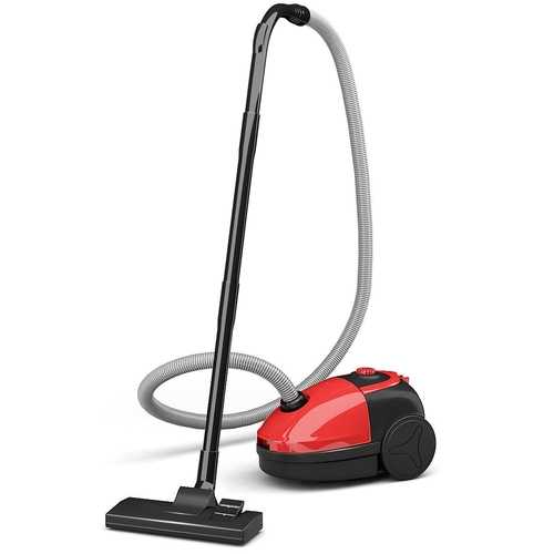 Bagged Cord Rewind Canister Vacuum Cleaner w/ Washable Filter