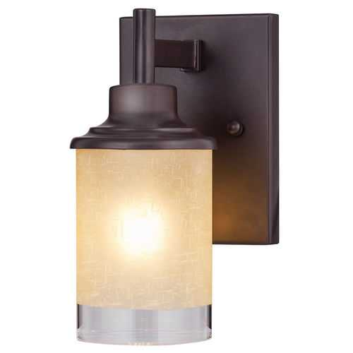 Wall Mounted One - Light Antique Bronze Vanity Light