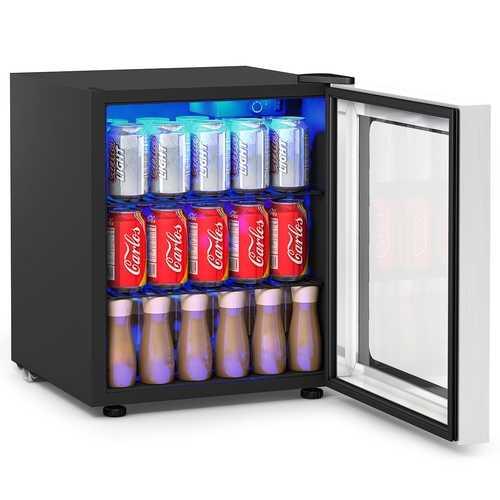 60 Can Beverage Mini  Refrigerator w/ Glass Door