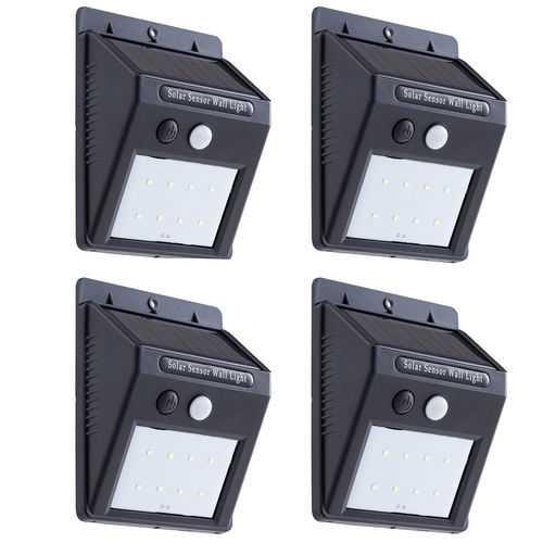 4 pcs Waterproof LED Wireless Motion Sensor Solar Lights
