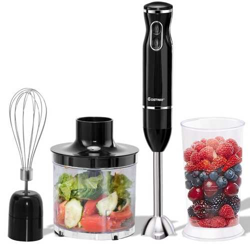 4-in-1 Hand Blender Set with Food Chopper and Beaker