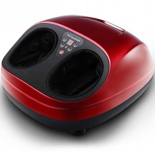 Shiatsu Deep Kneading Foot Massager with Heat Rolling - Color: Red
