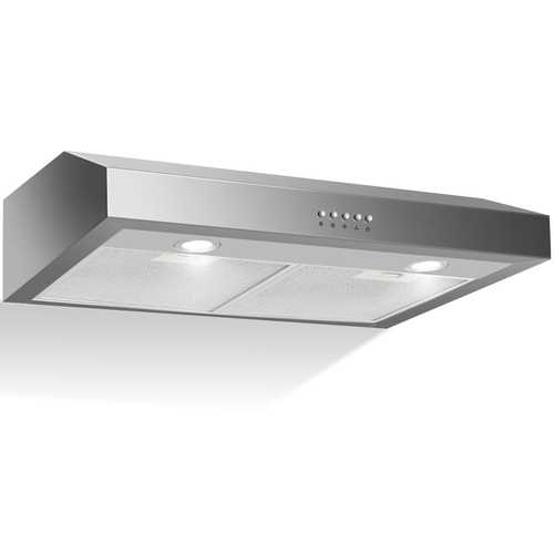 "69W 30"" Under Cabinet Kitchen Range Hood with Stainless Steel"