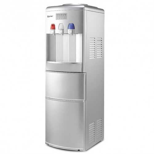 Top Loading Water Dispenser with Built-In Ice Maker Machine-Silver