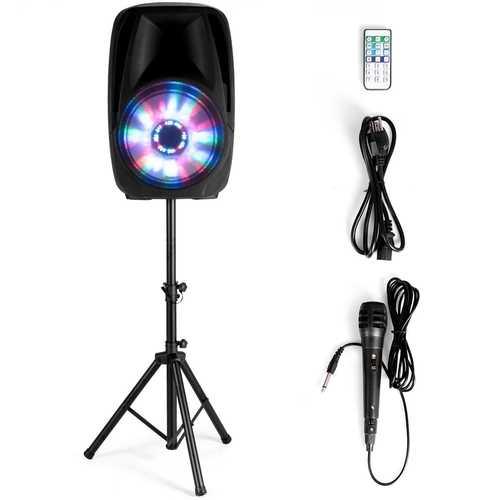"Portable 15"" 1500 W 2-Way Powered Speaker with Illuminating Light"