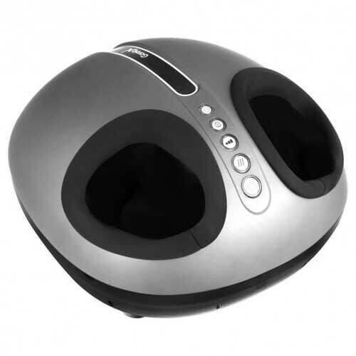 Heat Air Compression Foot Massager Kneading Shiatsu Therapy Plantar Massage - Color: Black