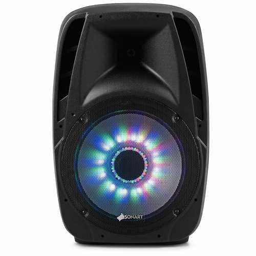 "15"" 2000W 2-way Powered Speaker with Illuminating Light"