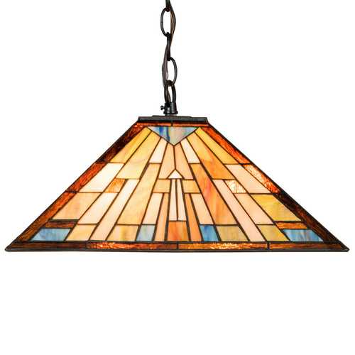 2-Light Ceiling Tiffany Hanging Lamp w/ Lamp Shade
