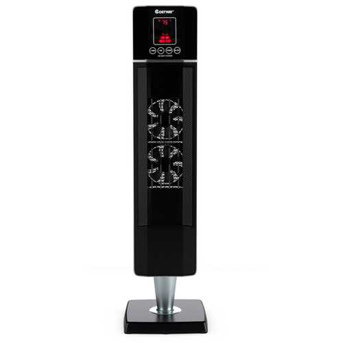 1500W Portable Tower Heater w/ Timer Remote Control