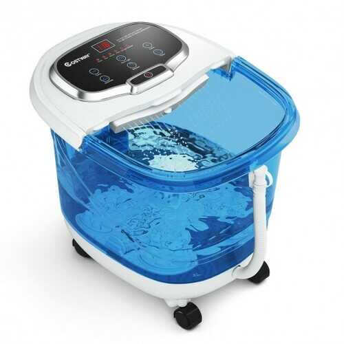 Portable Foot Spa Bath Motorized Massager with Shower-Blue and Withe