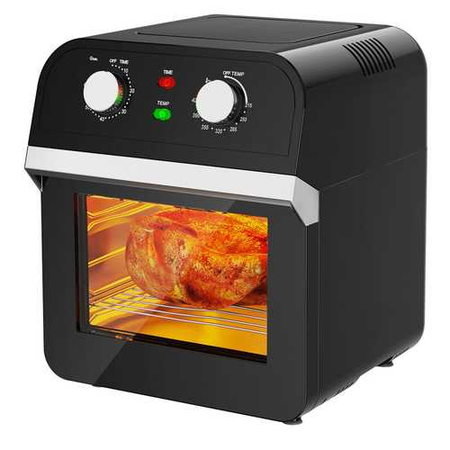 12.7QT 1600W Electric Rotisserie Dehydrator Convection Air Fryer Toaster Oven