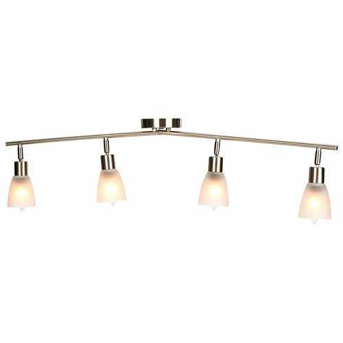 4-Light Track Light Rotatable Glass Shade Chandelier lamp