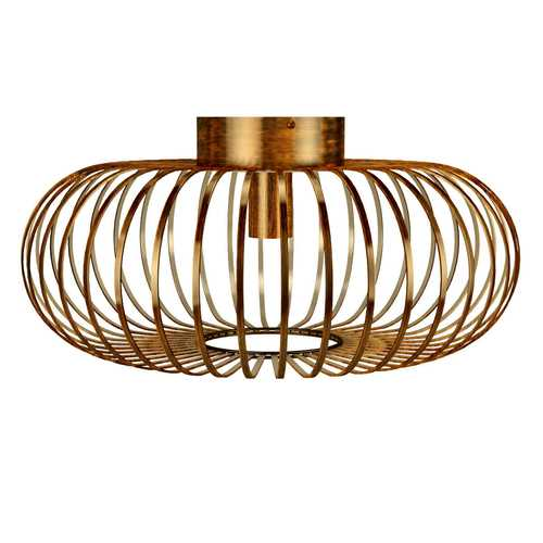 Antique Brass Metal Flush Mount Ceiling Pendant Light