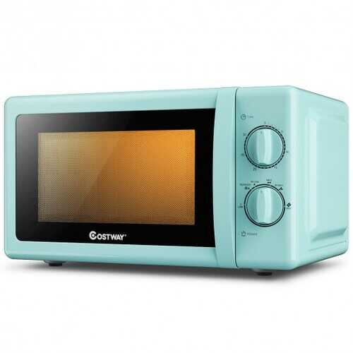 0.7 Cu. ft Retro Countertop Compact Microwave Oven-Green
