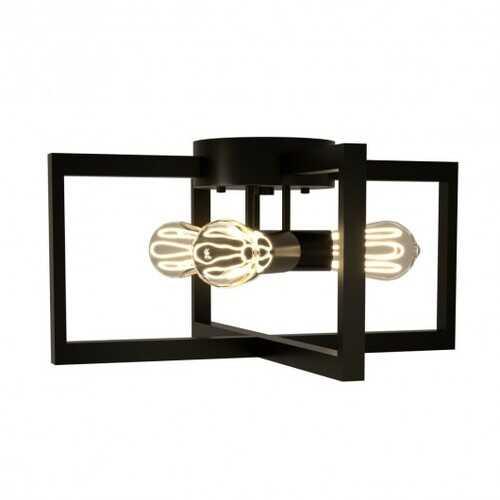 Flush Mount Geometric Metal 3-Lights Ceiling Lamp