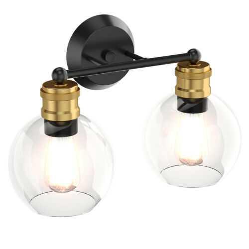 Modern 2-light Bubbled Glass Vanity Light