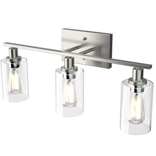 Modern 3-light Bubbled Glass Vanity Light