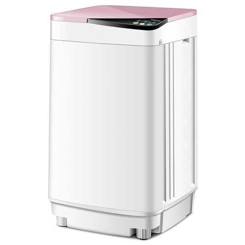 Full-automatic Washing Machine 10 lbs Washer / Spinner Germicidal-Pink