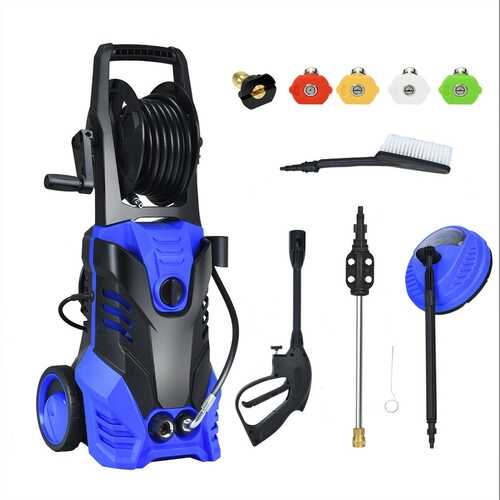 3000 PSI Electric High Pressure Washer With Patio Cleaner -Blue
