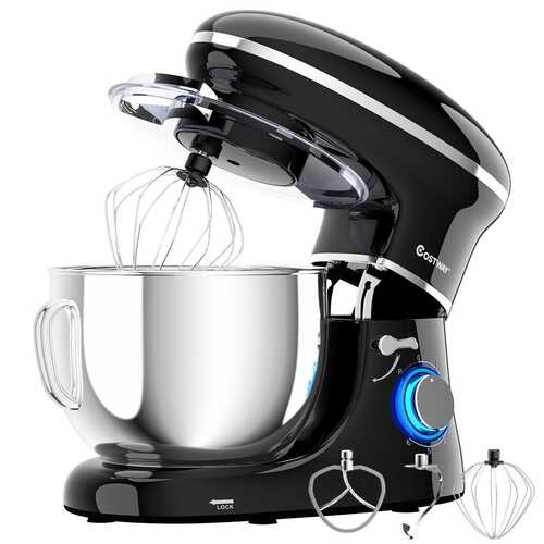 6.3 Qt 6 Speed 660W  Tilt-Head Food Stand Mixer-Black