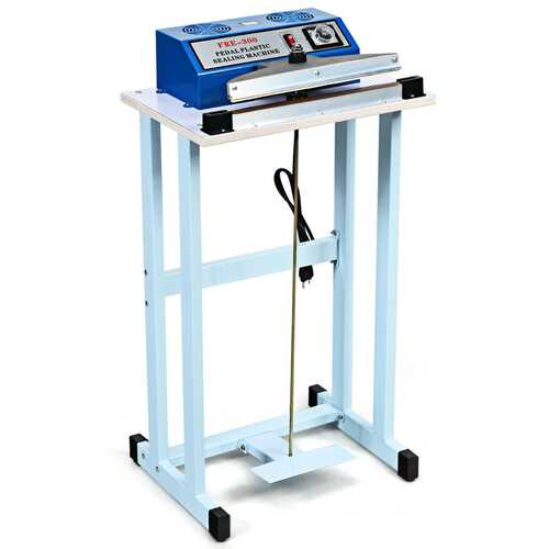 "110V 12"" Foot Pedal Impulse Sealer Machine with Cutter"