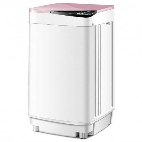 Full-automatic Washing Machine 7.7 lbs Washer / Spinner Germicidal-Pink - Color: Pink