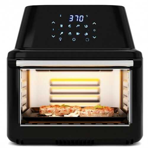 19 QT Multi-functional Air Fryer Oven 1800W Dehydrator Rotisserie-Black