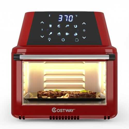 19 QT Multi-functional Air Fryer Oven 1800W Dehydrator Rotisserie-Red