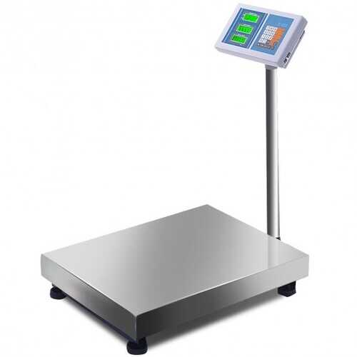 660 lbs Weight Computing Digital Floor Platform Scale - Color: White