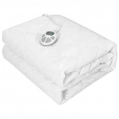 Auto Shut Off Heated Electric Mattress Pad with Dual Controller-Queen Size - Size: Queen Size