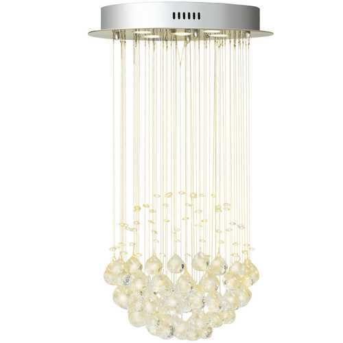 Mount Modern Crystal Chandelier with Crystal Balls