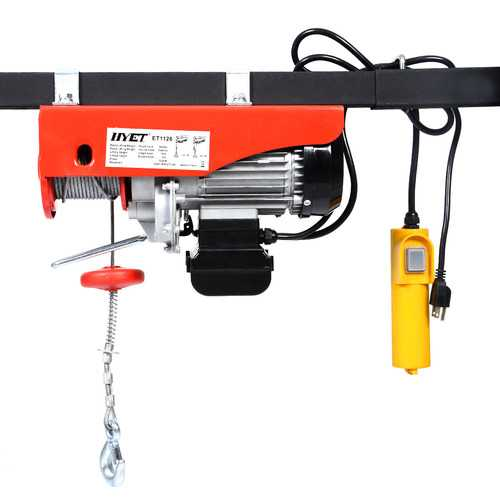 1320 lbs Mini Electric Wire Hoist Lift with Remote Control