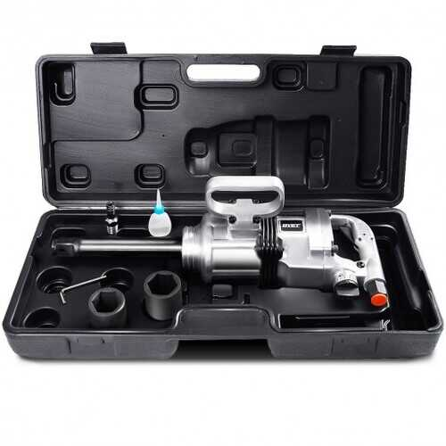 "Heavy Duty 1"" Air Impact Wrench Gun with Case"